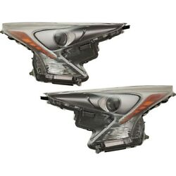 Set Of 2 Headlights Lamps Left-and-right 8114047741, 8107047741 Lh And Rh Pair