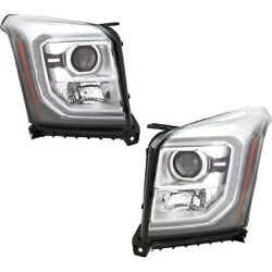 Headlights Lamps Set Of 2 Left-and-right 84294008, 84294007 Lh And Rh For Gmc Pair