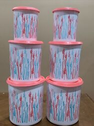 Tupperware One Touch Canister Set Of 6