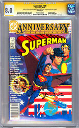 Superman 400 Cgc-ss 8.0 Signed By Jerry Robinson And Bernie Wrightson 1984