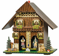 Authentic German Black Forest Weather House Barometer Weather Station
