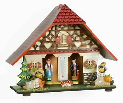 German Weather House Black Forest With Barometer Weather Station