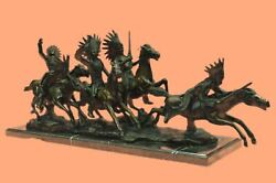 War Party Collectible Solid Bronze Sculpture Statue By Carl Kauba Hot Cast Gift
