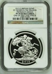 2013 George And Dragon Andpound5 Five Pound Silver Proof Coin Ngc Pf70 Uc