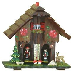 Wooden Traditional German Black Forest Weather House Barometer Weather Station