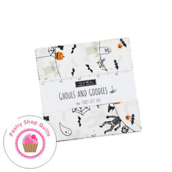 Moda GHOULS amp; GOODIES Stacey Iest Hsu Quilting CHARM PACK 42 5quot; squares