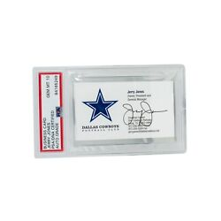 Business Card With Email Jerry Jones Psa/dna Auto Grade Gem Mint 10 The Only One