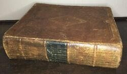 Vtg Antique 1848 He Phinney Leather Bound Holy Bible Apocrypha Old New Testament