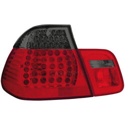 Led 2 X Tail Lights For Bmw E46 Soda 02-04 Red/smoke 4-teil Shows