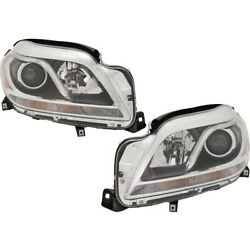 Pair Set Of 2 Headlights Lamps Left-and-right For Mercedes Lh And Rh Gl450 Gl550
