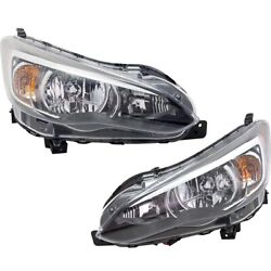 Pair Headlights Lamps Set Of 2 Left-and-right 84001fl00a 84001fl01a Lh And Rh