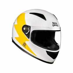 Fit For - Royal Enfield Street Prime Bolt Helmet- White And Yellow