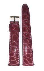 16mm Pink Genuine Crocodile Handmade In Italy Leather Watch Strap Band