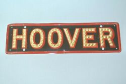 1928 / 32 Herbert Hoover Red And Black License Plate Topper Bright Boss Sign Co.