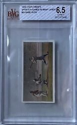 1929 Churchman's Sports And Games In Many Lands 25 Babe Ruth Bvg 6.5 Ex-mt+ Rare