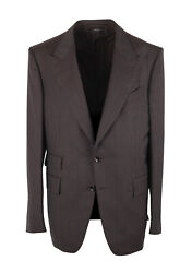New Tom Ford Shelton Checked Brown Suit Size 52 It / 42r U.s.
