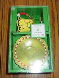 Dept 56 Christmas Lollysticks - Teacup With Saucer Dish And Tealite - New In Box