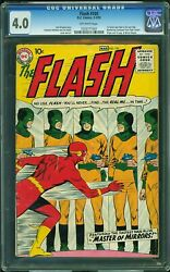 Flash 105 Cgc 4.0 Dc 1959 1st Flash And Mirror Master Justice League L12 101 Cm