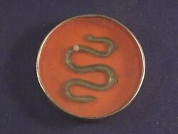 Vintage Tin Toy Dexterity Game Puzzle Hand Held Germany Snake Marble 1910