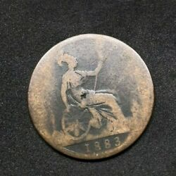 1883 Britain England British English Large Cent Penny Money Queen Victoria 28