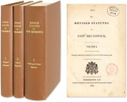Canada / Revised Statutes Of New Brunswick Printed Under The Authority 51109