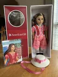 New Marie Grace With Her Hat And Book - American Girl Doll Nib Nrfb