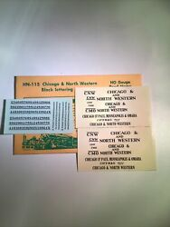 Champ Decals Ho Scale Hn-115 Chicago And North Western Cnw Black Lettering H3