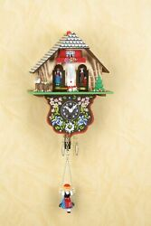 German Black Forest Miniature Clock With A Swing Black Forest Weather House