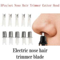 5x Replaceable Washable Blades Electric Nose Hair Trimmer Eyebrows Beard Head Us