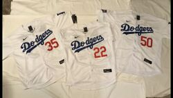 La Dodgers 2020 World Series Stiched Jersey Whi-blu-red Choice Player Sz, New