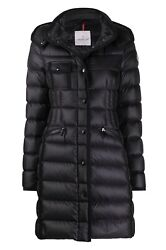 Moncler Hermine Hooded Puffer Jacket Down Parka 4 Large