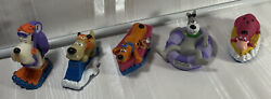 Cartoon Network Pizza Hut Set 5 1995 Mutely Droopy Scooby Astro Dino Squirters