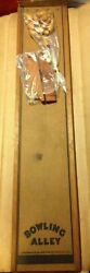 Ultra Rare Vintage 4 Foot Pressman Toy Wood Bowling Alley Game The Henry Ford