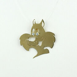 Collectible 14k Yellow Gold Looney Tunes Sylvester The Cat Pendant
