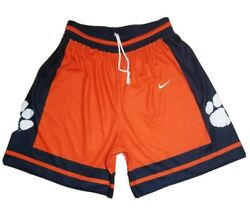 Vtg Rare Nike Authentic Clemson Tigers Ncaa College Basketball Shorts - Sz Large