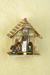 German Black Forest Weather House Barometer Weather Station With Wooden Figures