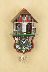 German Black Forest Weather House With A Miniature Pendulum Clock