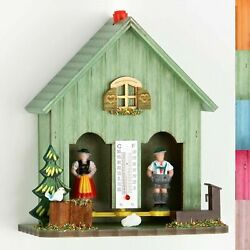 German Black Forest Weather House Barometer Weather Station Different Colour