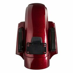 Hard Candy Hot Rod Red Flake Cvo Rear Fender System For 14-20 Harley Touring