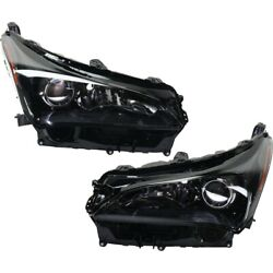 Pair Set Of 2 Headlights Lamps Left-and-right 8114078030, 8107078030 Lh And Rh