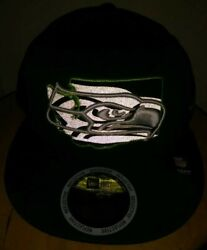 Seattle Seahawks 59fifty Reflective Hat New Era Nfl Cap Fitted Men's 7 1/8 Usa