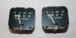 Two Piper Cub Fuel Pressure Gauges 1508113 1508114 752-042 Used.
