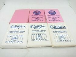 Lot Of 6 1986 To 1991 Motherand039s Cookies Baseball Card Set 3 Astros Rangers