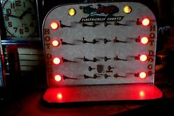 Old Diner Hot Dog Electronic Cooker Sign.see My Porcelain Neon Signs Clock