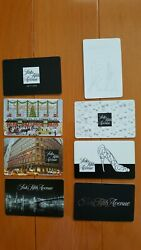New Lot Of 10 Gift Cards Saks Fifth Avenue Collectible No Value