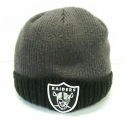 Raiders Cuffed Beanie New Era Lined Two Tone Black And Gray Hat Nfl