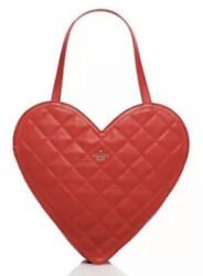 Kate Spade Red Heart Bag Tote Large Quilted Leather Secret Admirer Wedding Sale