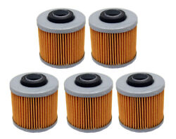 5 Pack Oil Filters For Yamaha Grizzly 600 4x4 Yfm600fw And Raptor 700 Yfm700r