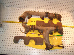 Mercedes 1977 Late R107w116 4.5l V8 L And R Exhaust 2 Manifolds And Shieldstype 2