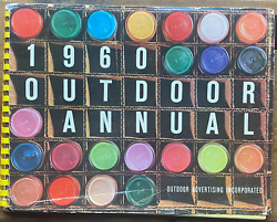 Outdoor Advertising Annual 1960 Vintage Antique Book - Ford, Dr Pepper, Chevy